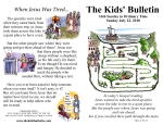 The Kids' Bulletin for Sunday July 22nd, 2018