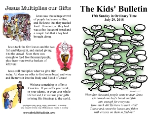 The Kids' Bulletin 17th Sunday