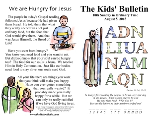 The Kids' Bulletin 18th Sunday