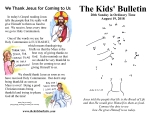 The Kids' Bulletin for Sunday August 19th, 2018