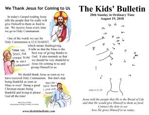 The Kids' Bulletin 20th Sunday