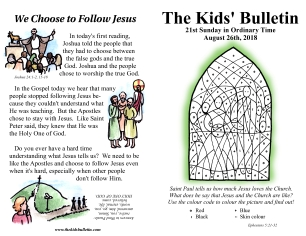 The Kids' Bulletin 21st Sunday