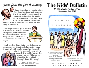 The Kids' Bulletin 23rd Sunday