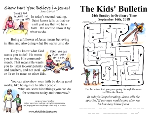 The Kids' Bulletin 24th Sunday