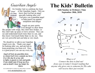 The Kids' Bulletin 26th Sunday
