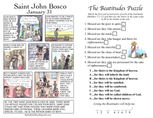 The Kids' Bulletin All Saints 2018 inside