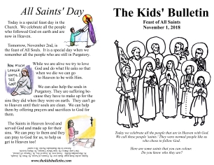 The Kids' Bulletin All Saints 2018