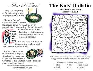 The Kids' Bulletin Advent 1