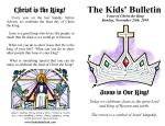 The Kids' Bulletin for Sunday November 25th, 2018: Feast of Christ the King