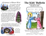 The Kids' Bulletin for Sunday December 23rd, 2018