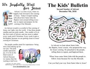 The Kids' Bulletin Advent 2