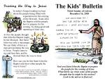 The Kids' Bulletin for Sunday December 16th, 2018
