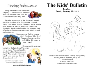 The Kids' Bulletin Epiphany Sunday