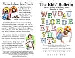 The Kids' Bulletin for Sunday January 20th, 2019