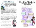 The Kids' Bulletin for Sunday February 17th, 2019