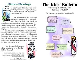 The Kids' Bulletin 6th Sunday