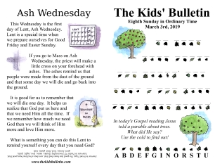 The Kids' Bulletin 8th Sunday