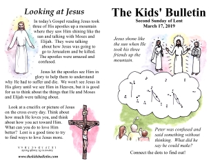 The Kids' Bulletin 2nd Sunday of Lent