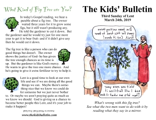 The Kids' Bulletin 3rd Sunday of Lent