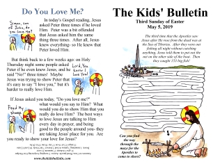 The Kids' Bulletin 3rd Sunday of Easter
