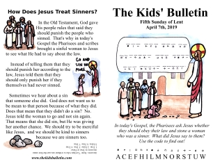 The Kids' Bulletin 5th Sunday of Lent