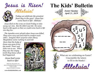 The Kids' Bulletin Easter Sunday