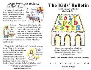 The Kids' Bulletin 6th Sunday of Easter