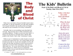 The Kids' Bulletin for Sunday June 23rd, 2019: Feast of the Body and Blood of Christ
