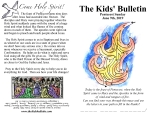 The Kids' Bulletin for Sunday June 9th, 2019: Pentecost