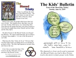 The Kids' Bulletin for Sunday June 16th, 2019: Feast of the Most Holy Trinity