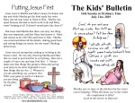The Kids' Bulletin for Sunday July 21st, 2019
