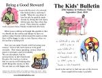 The Kids' Bulletin for Sunday September 22nd, 2019