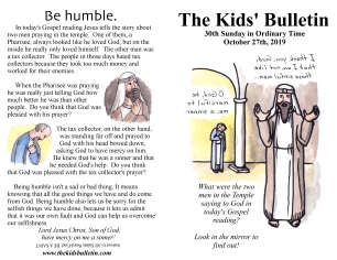 The Kids' Bulletin 30th Sunday