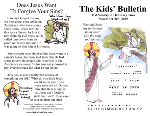 The Kids' Bulletin 31st Sunday