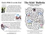 The Kids' Bulletin for Sunday November 17th, 2019