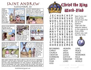The Kids' Bulletin Christ the King inside