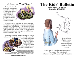 The Kids' Bulletin 3rd Sunday of Advent