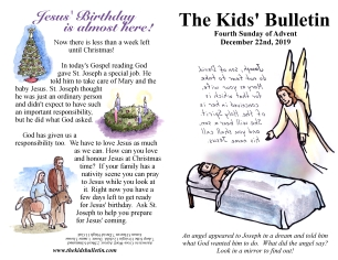 The Kids' Bulletin 4th Sunday of Advent