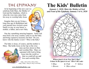 The Kids' Bulletin Mother of God and Epiphany
