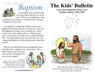 The Kids' Bulletin Baptism