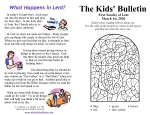 The Kids' Bulletin for Sunday March 1st, 2020