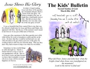 The Kids' Bulletin 2nd Sunday of Lent