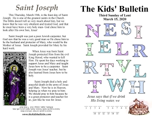 The Kids' Bulletin 3rd Sunday of Lent