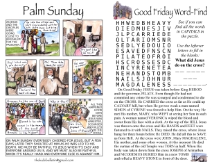 The Kids' Bulletin Passion Sunday inside
