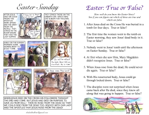 The Kids' Bulletin Easter inside