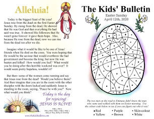 The Kids' Bulletin Easter