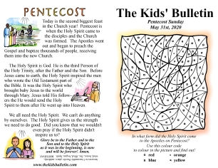 The Kids' Bulletin Pentecost