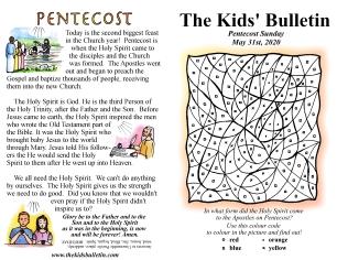 The Kids' Bulletin Pentecost