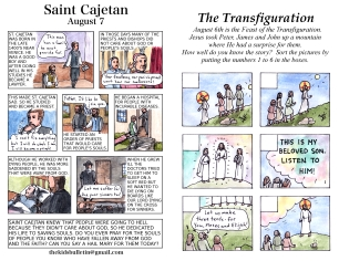 The Kids' Bulletin 18th Sunday and Transfiguration inside